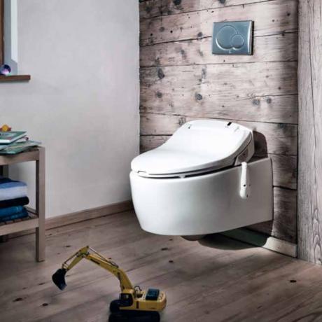 Das Teamwork Dusch WC Variante aquamano-Dusch-WC-kombi Aaquamano weiß